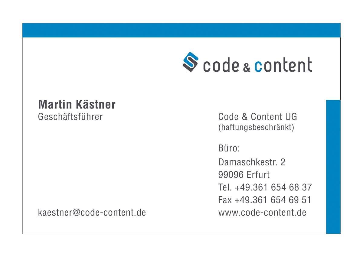 Code Content Ug Logo Visitenkarten Briefpapier Portal 2