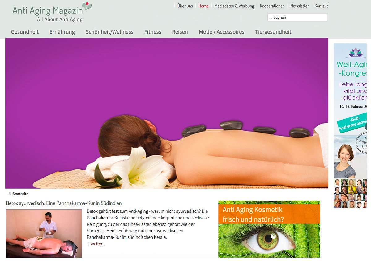 Anti Aging Magazin: Neue Website