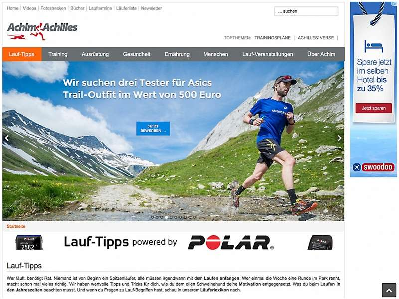 Achim Achilles: Relaunch der Website