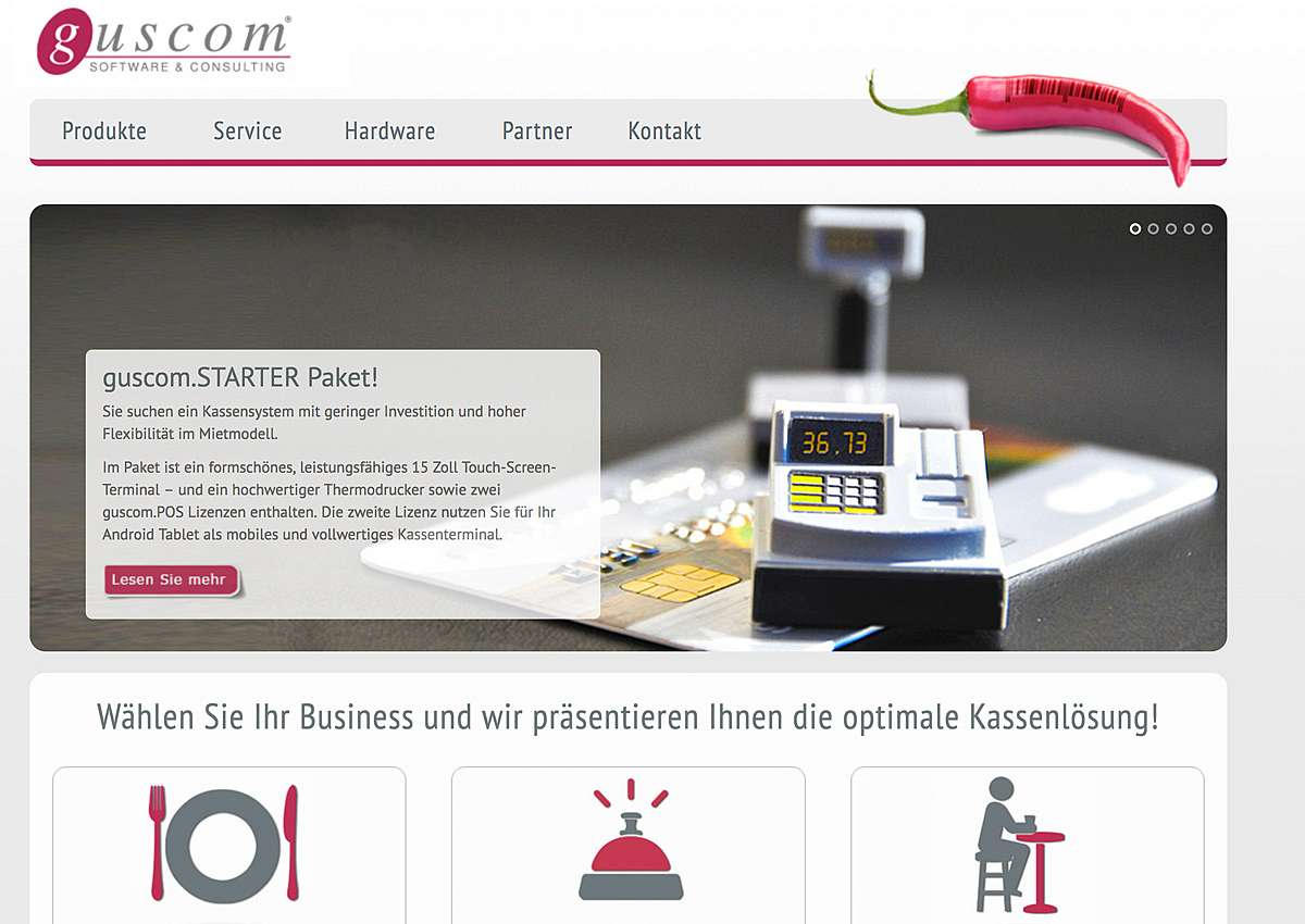 Guscom AG:: Relaunch der Website