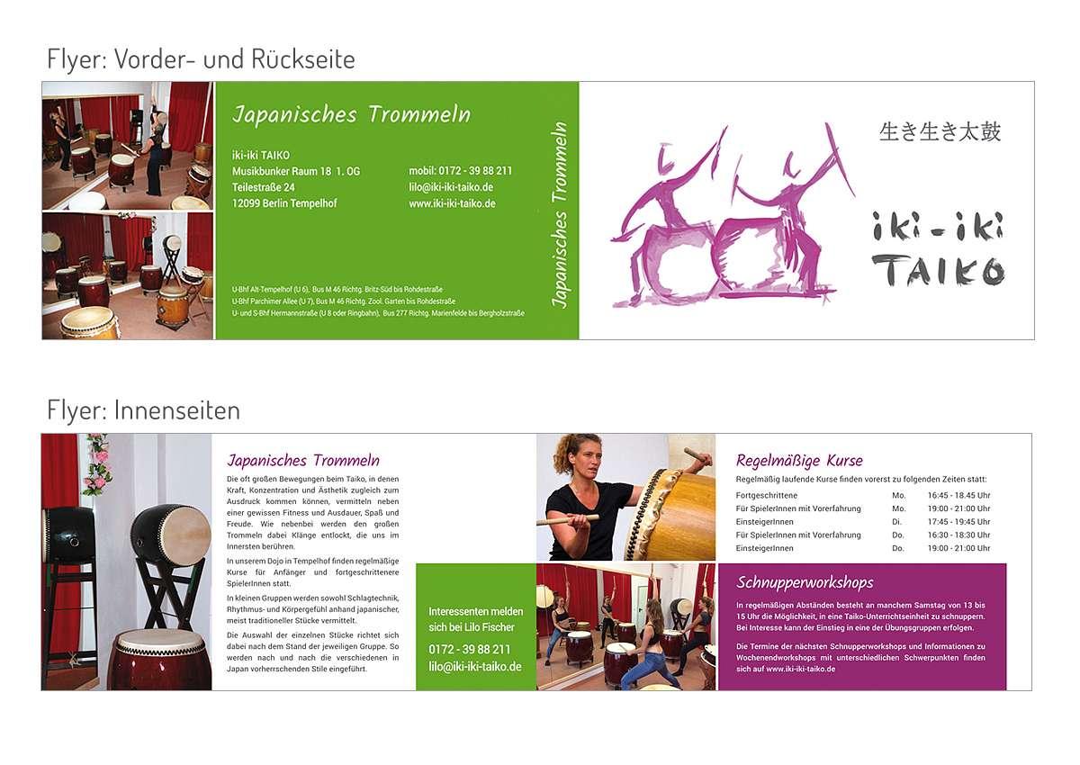 Iki Iki Taiko Logo Visitenkarte Flyer Portal 2