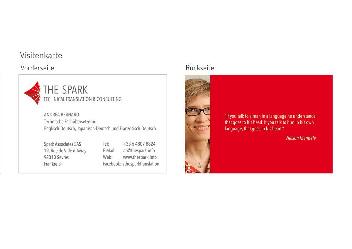 THE SPARK: Logo, Visitenkarte, Briefpapier